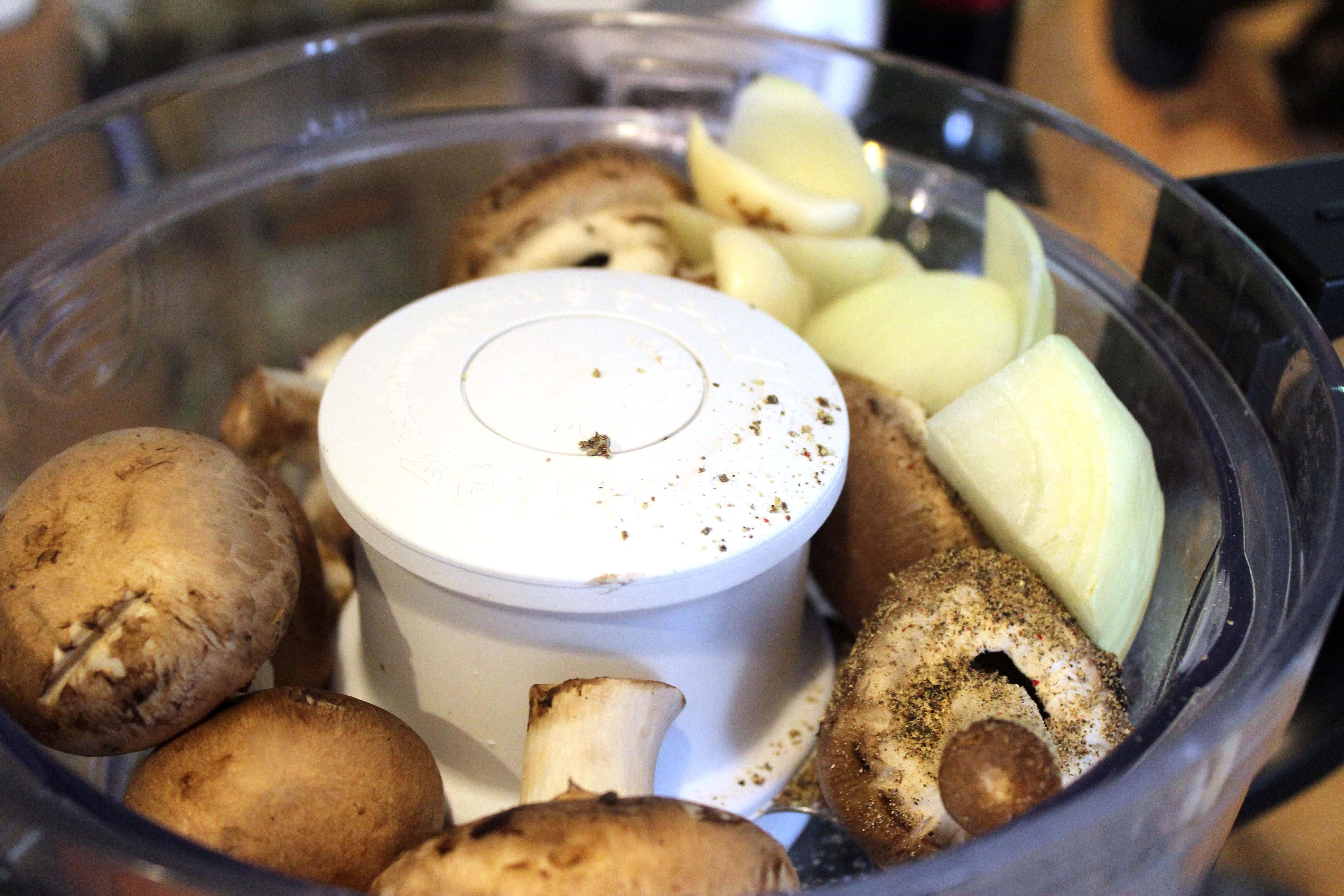 Add veggies to food processor