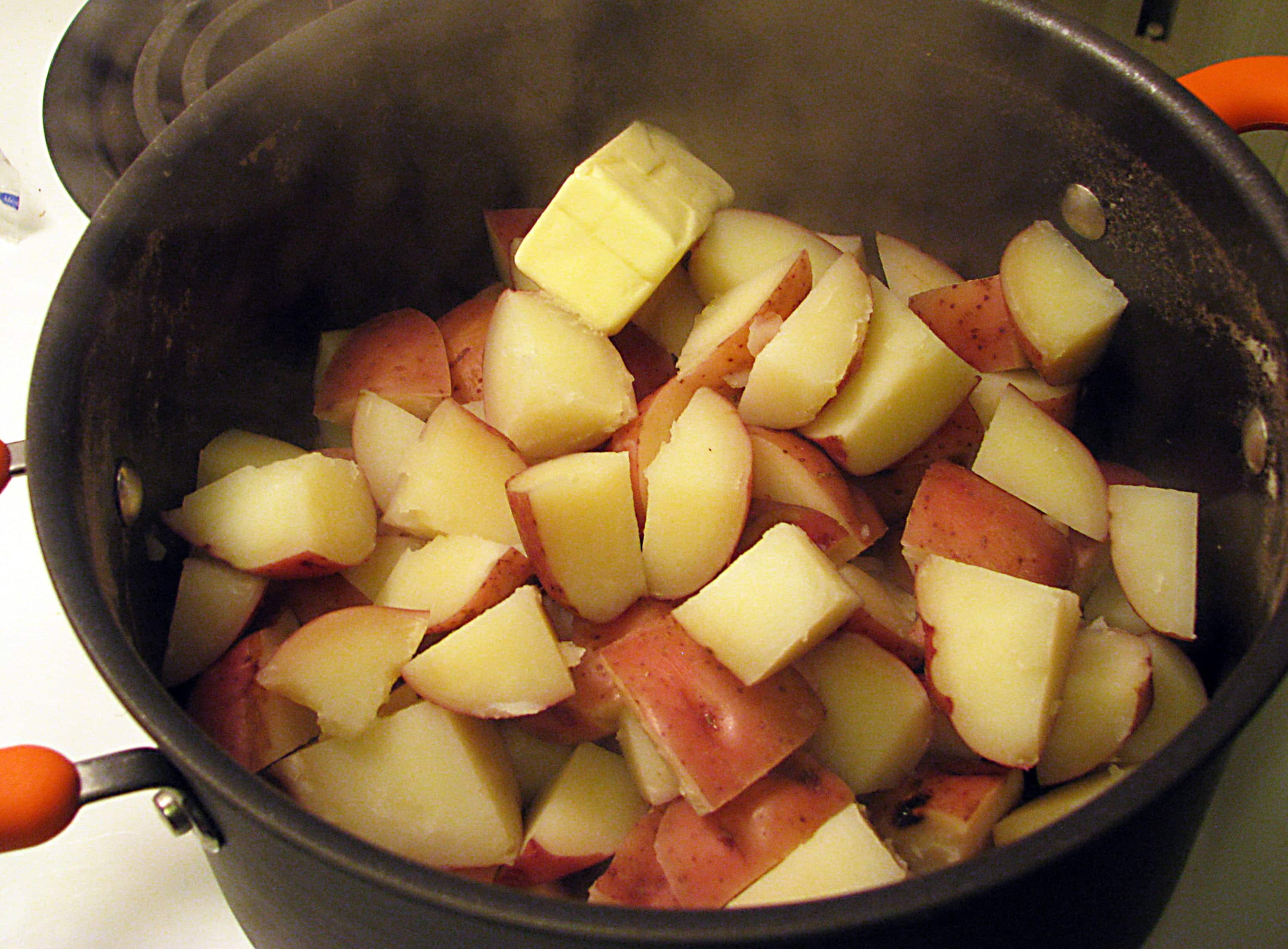 Butter in Cooked Potatoes