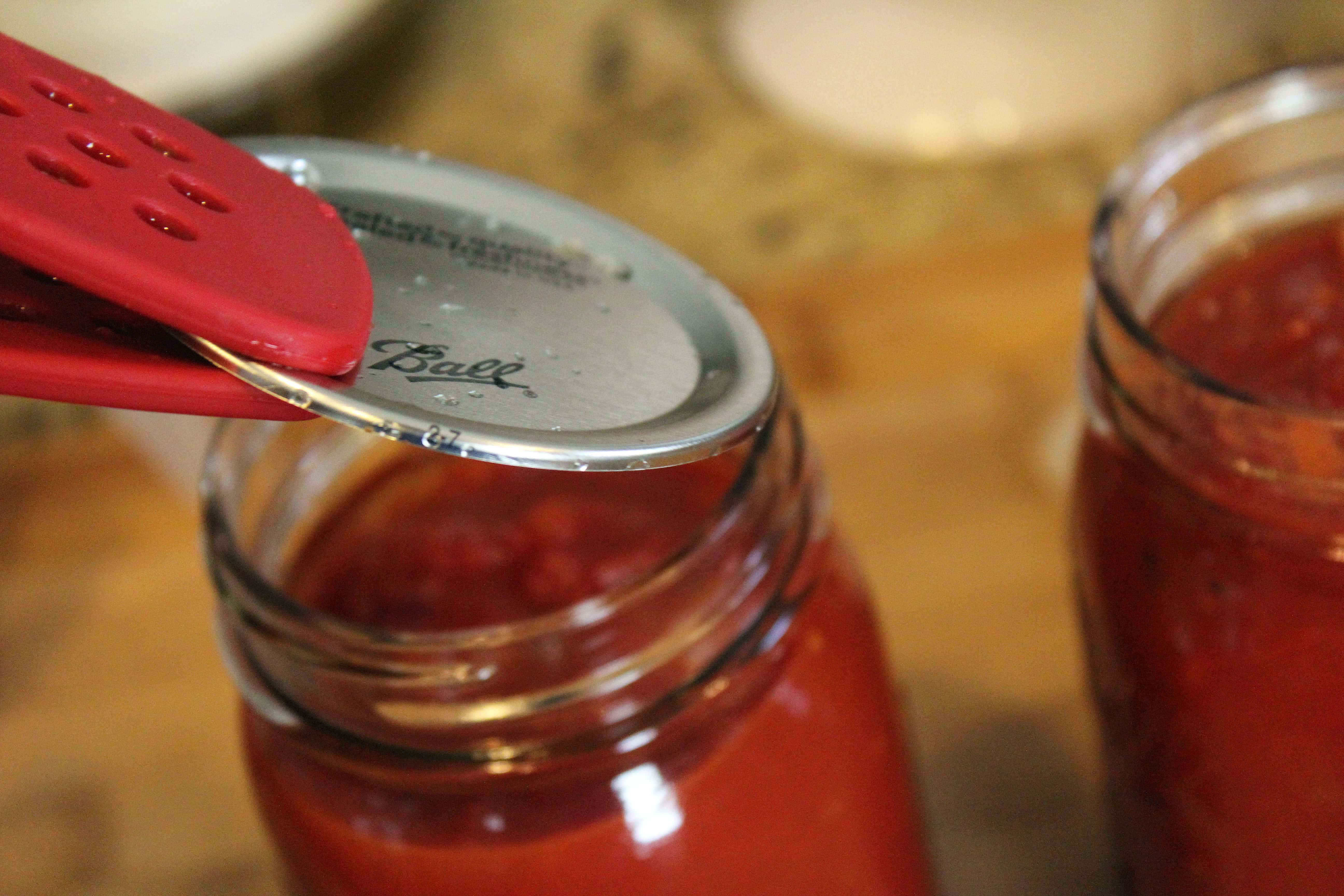 Place lid over jar