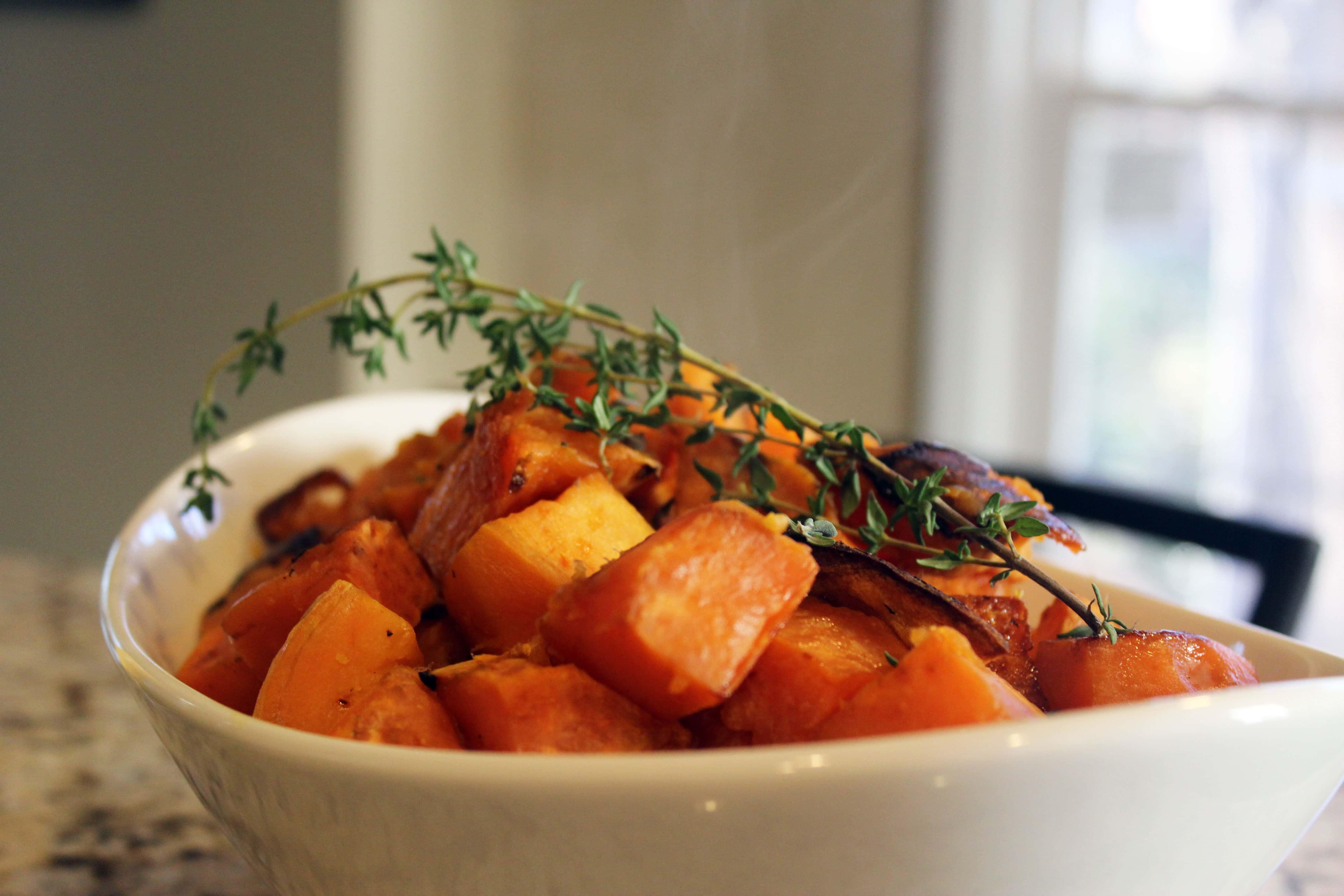 Bowl of sweet potato
