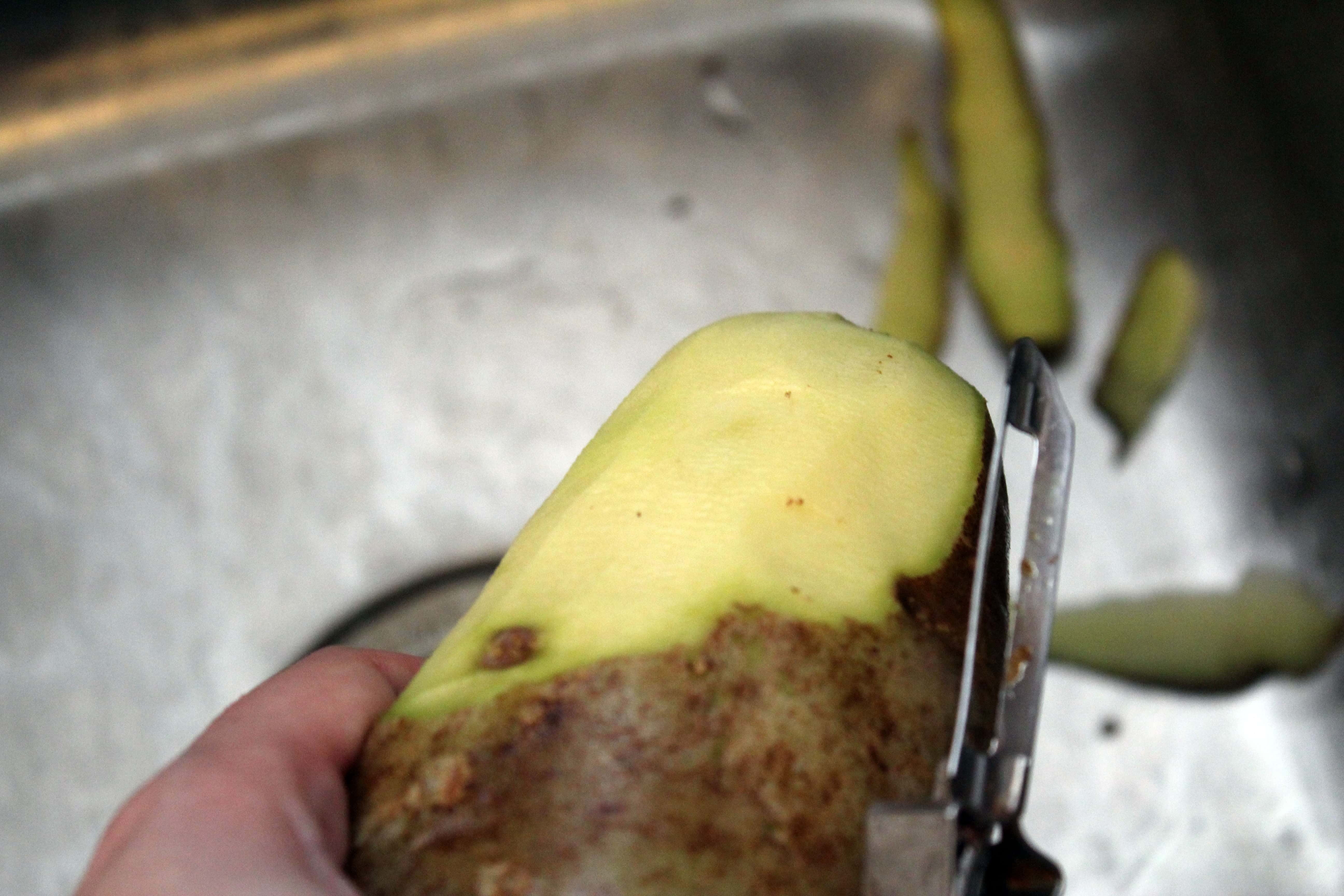 Peel and wash potatoes