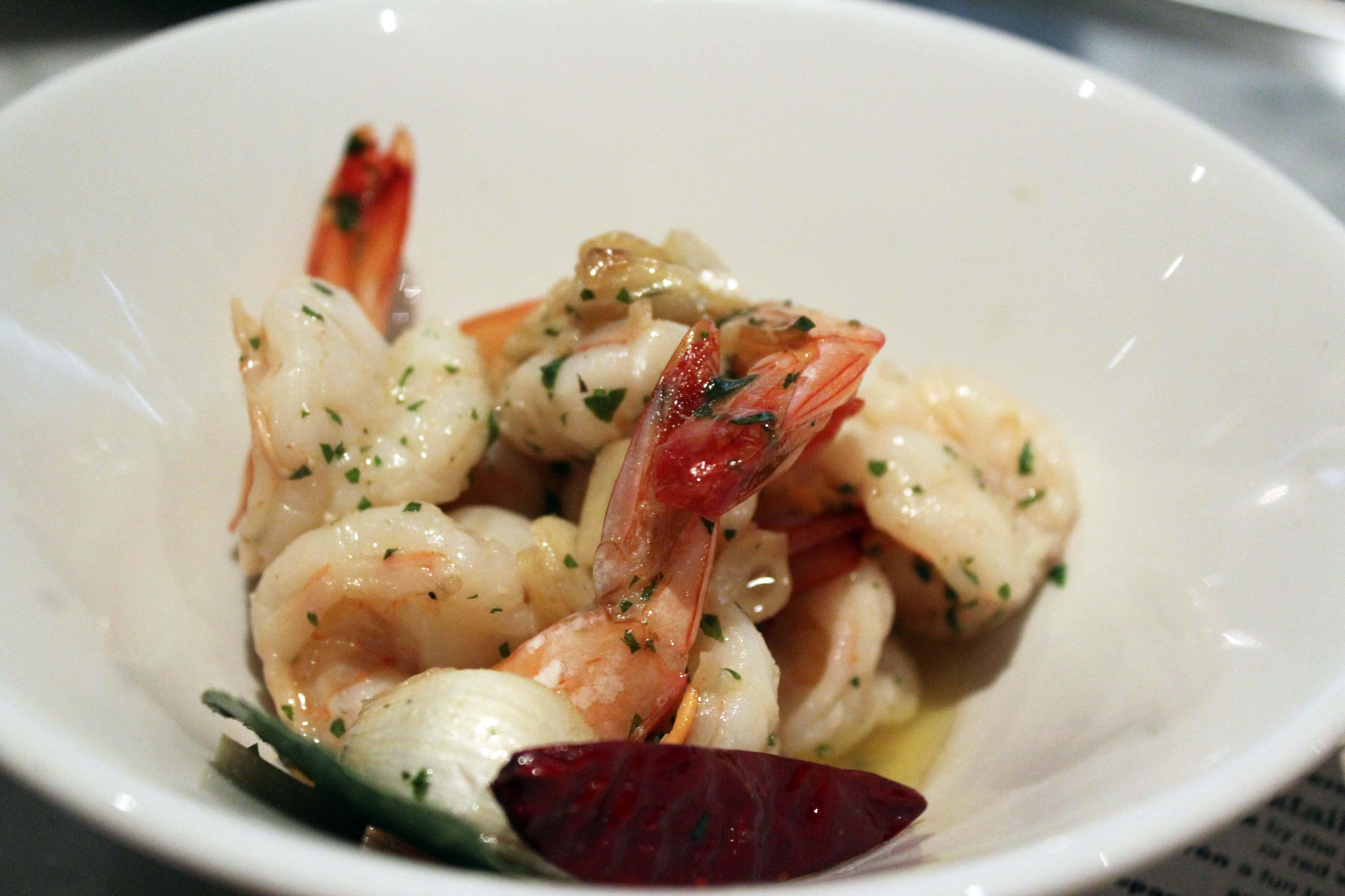 Shrimp and garlic appetizer