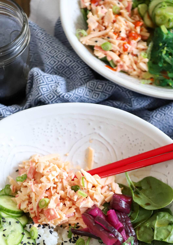 crab salad sushi