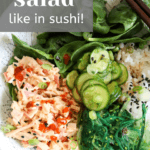 How to make spicy crab salad like in sushi recipe from funnyloveblog.com