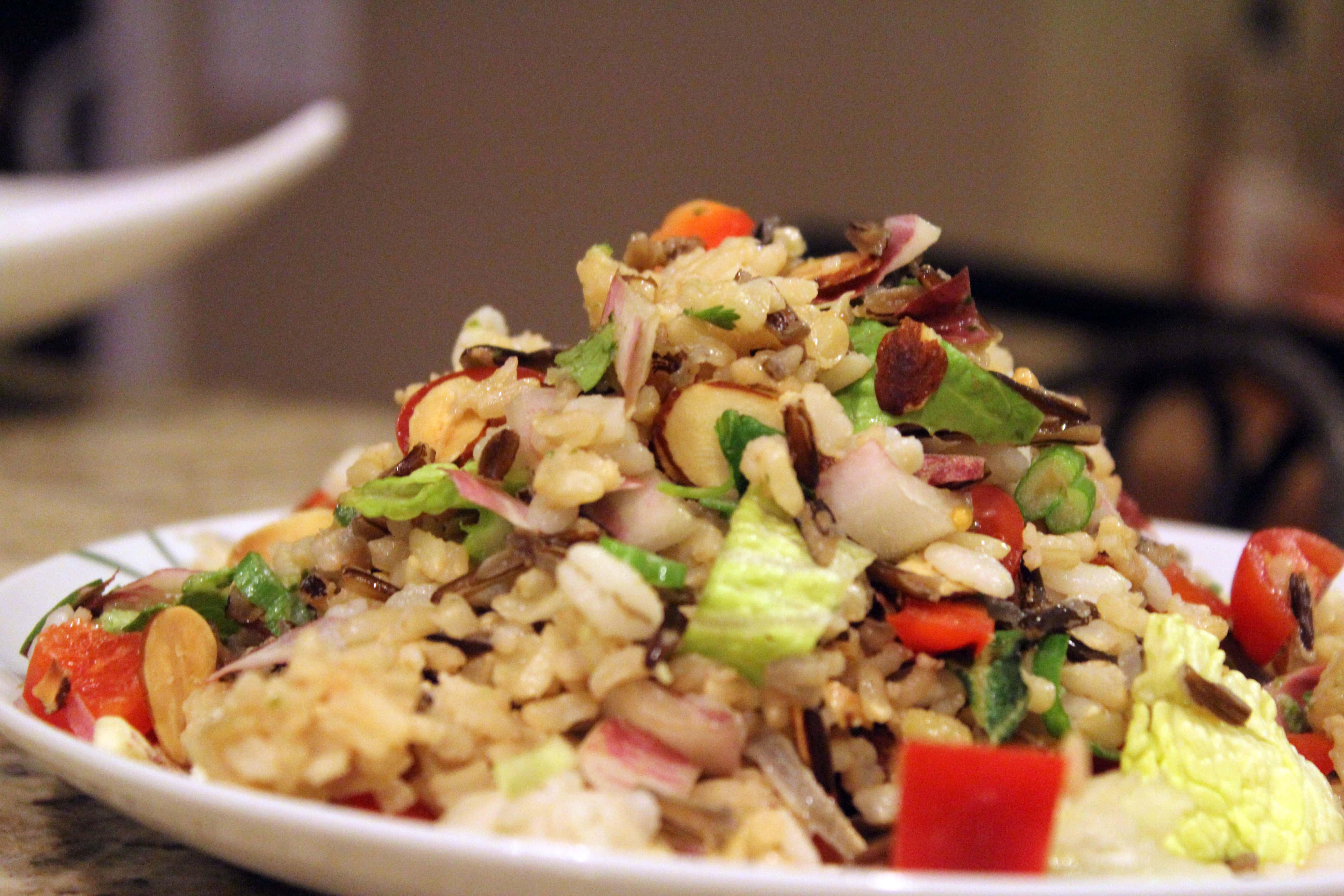 Salad tossed all together