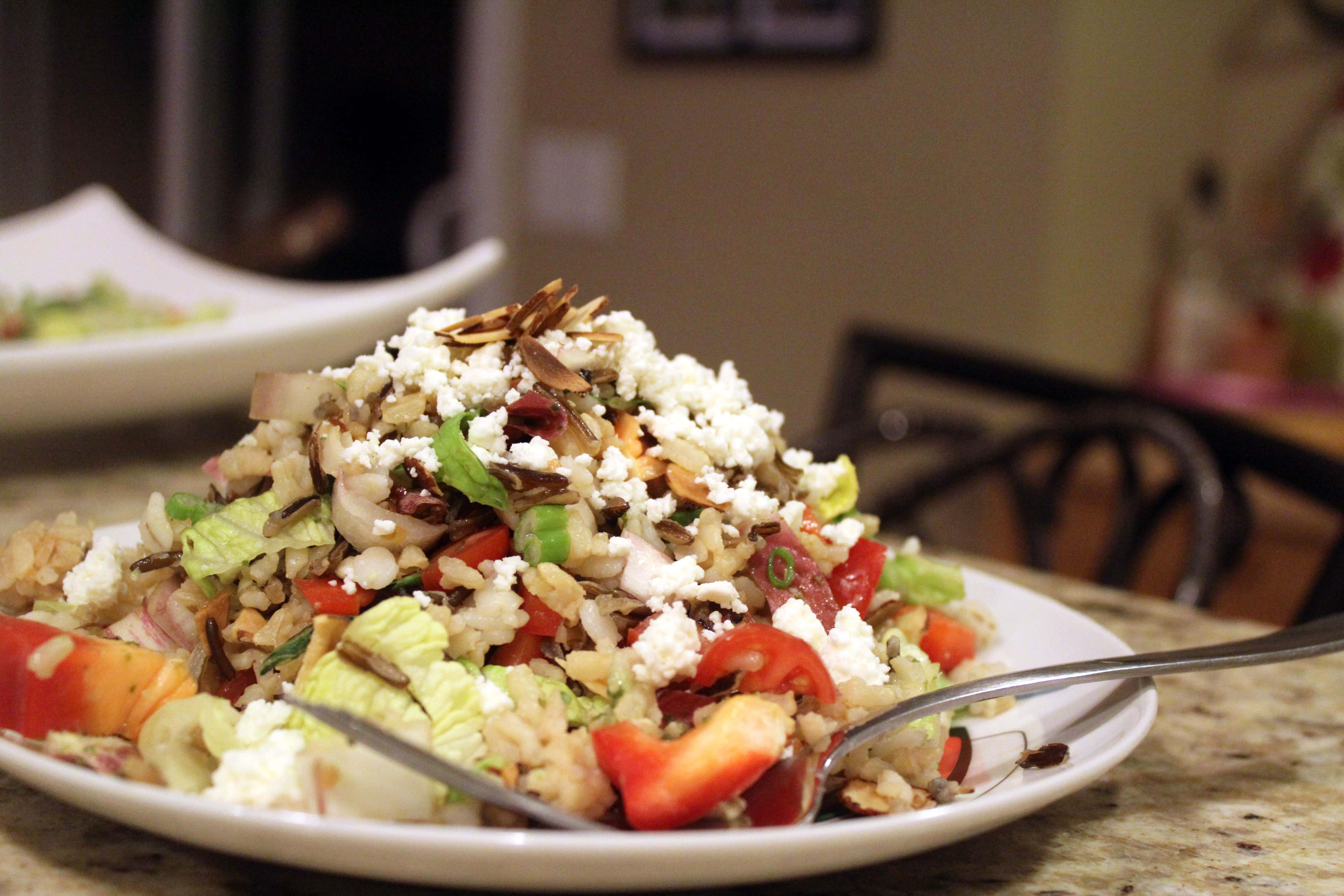 Salad with fork