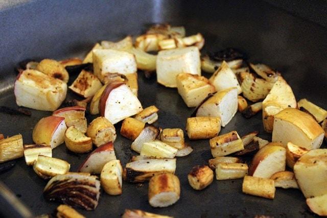 Roast veggies until soft