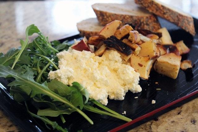 Serve ricotta with arugula