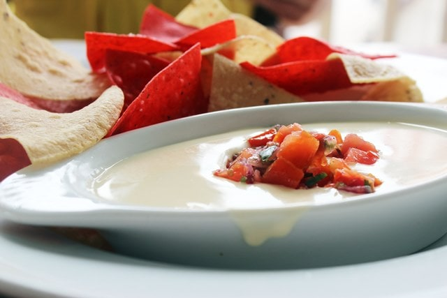 Tortilla Chips with Queso Dip