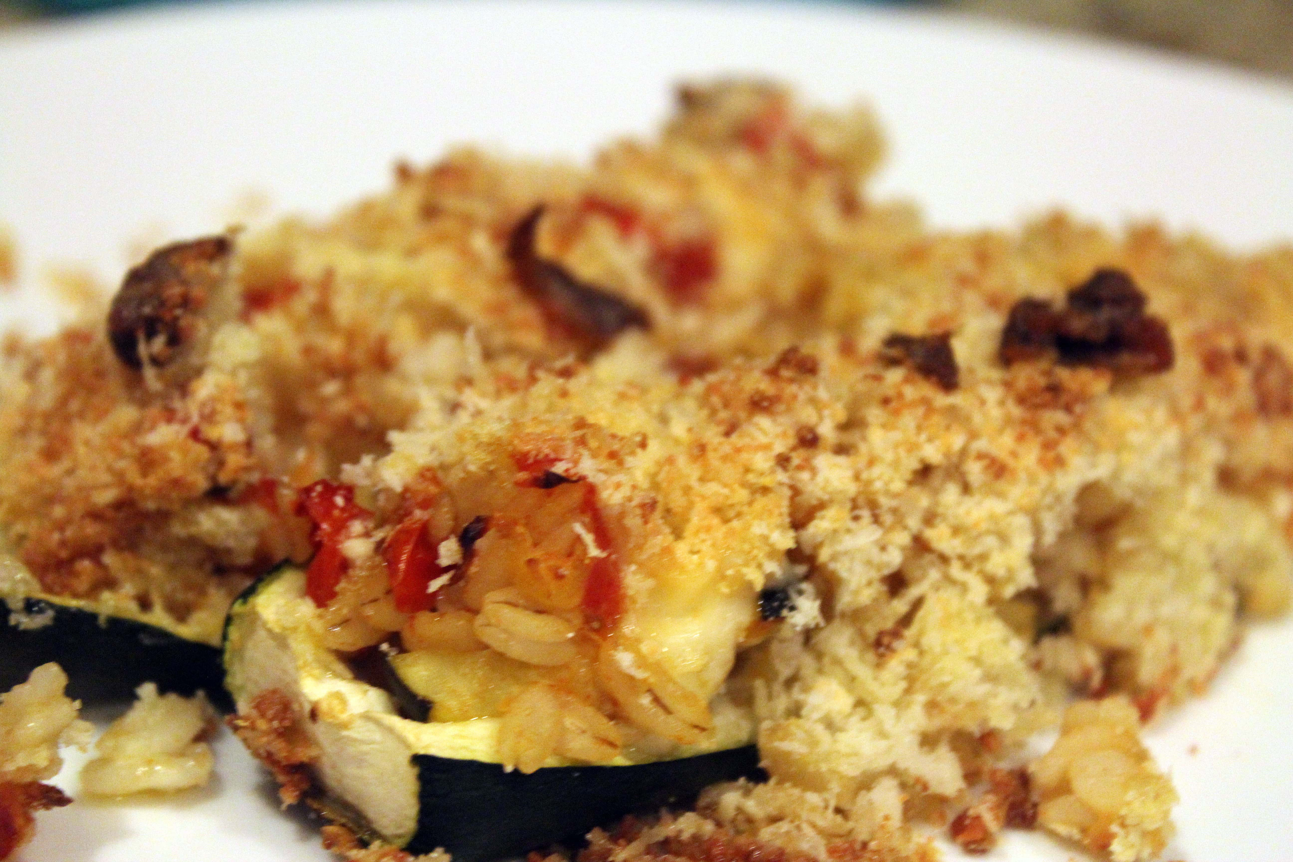 Zucchini on a plate