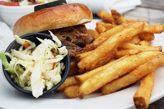 BBQ with fries