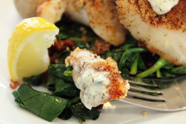 Fish with tartar sauce