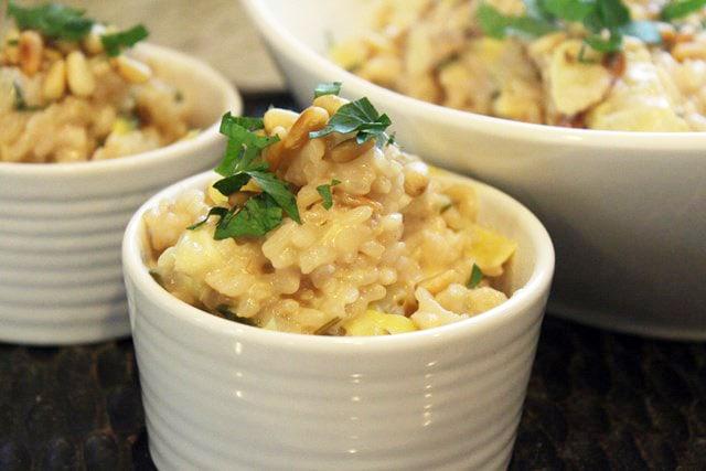 Small ramekin of risotto