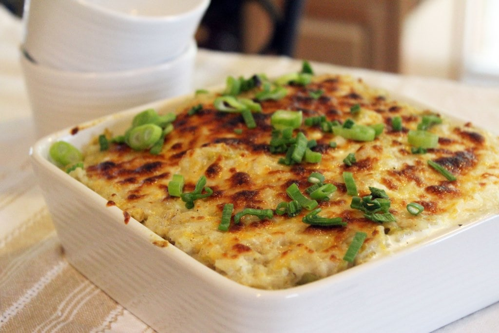Broiled cheesy rice