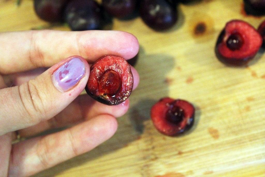Halved cherry