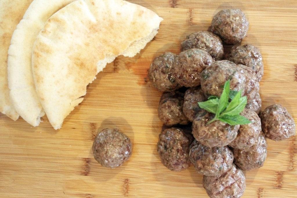 Meatballs and pita