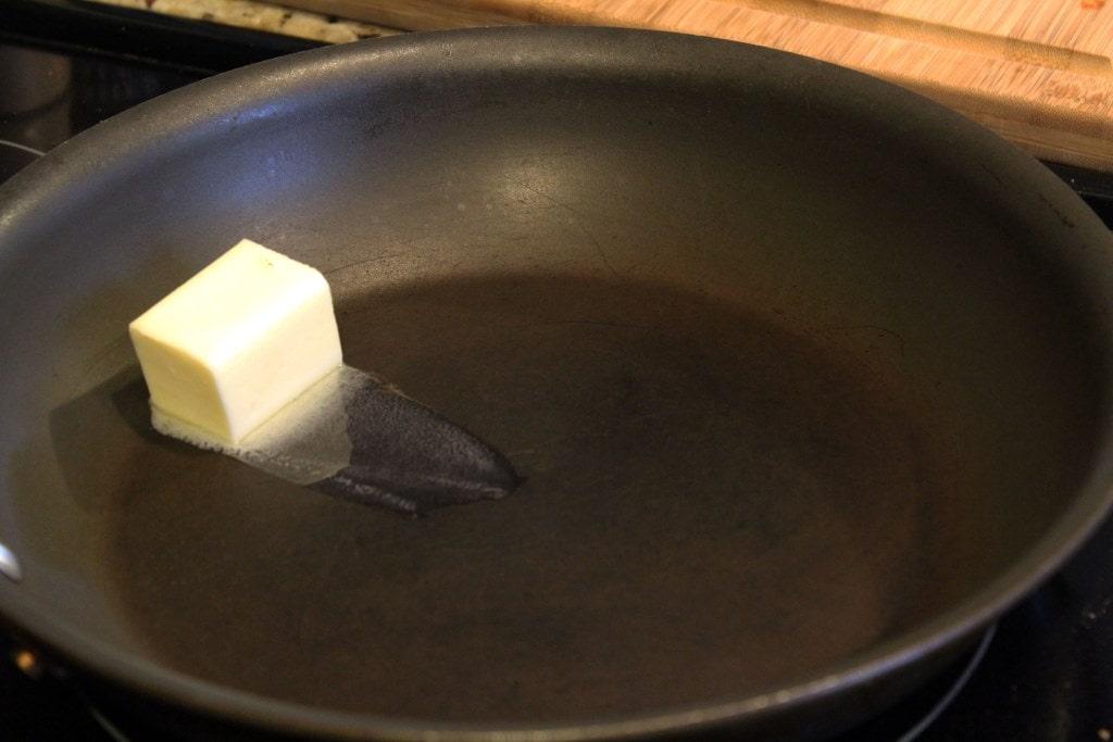 Melt butter slightly