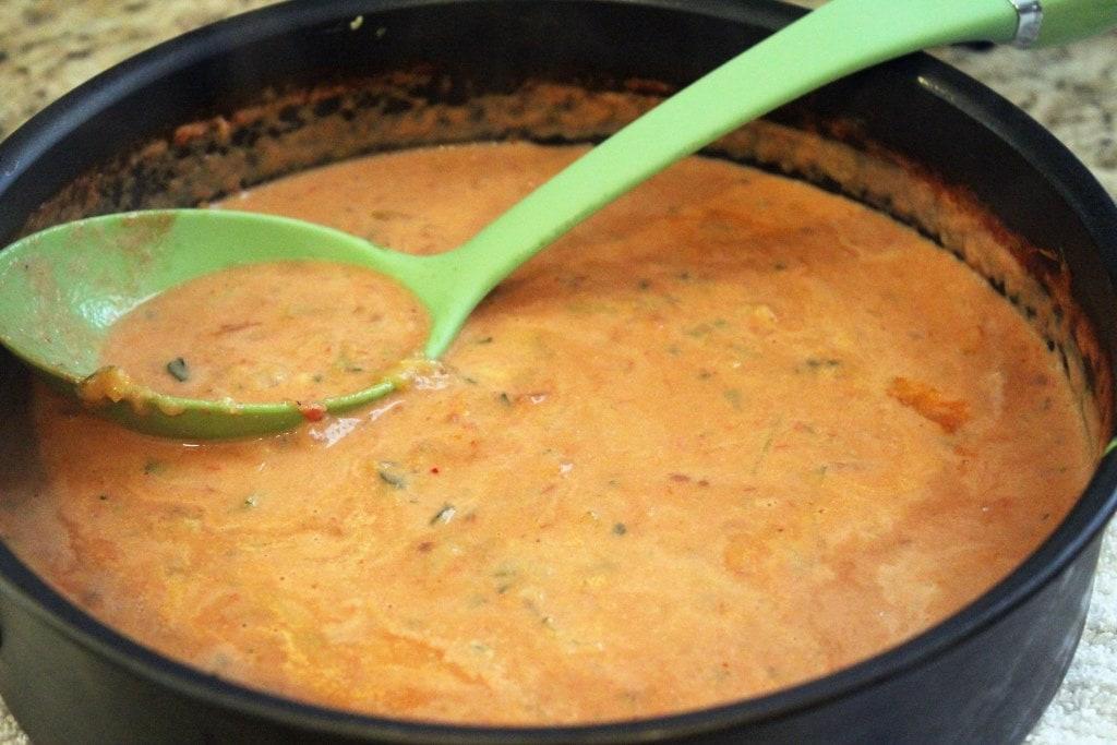 Stir sauce and taste