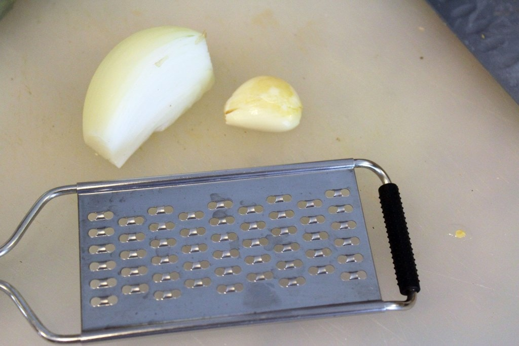 Use grater for veggies