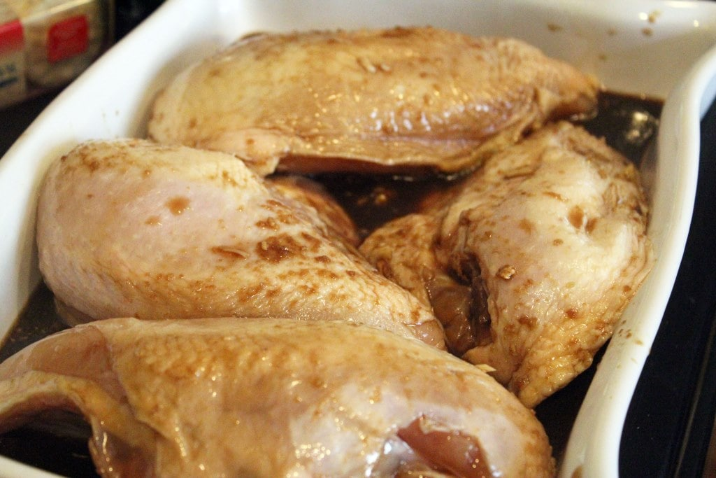 Chicken ready to cook