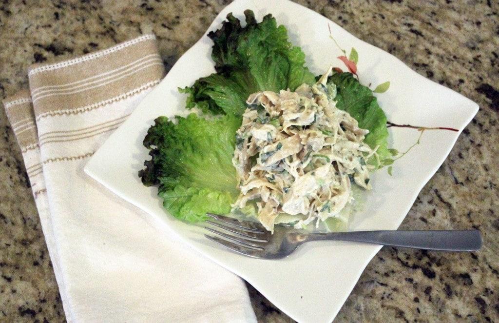 Served over lettuce