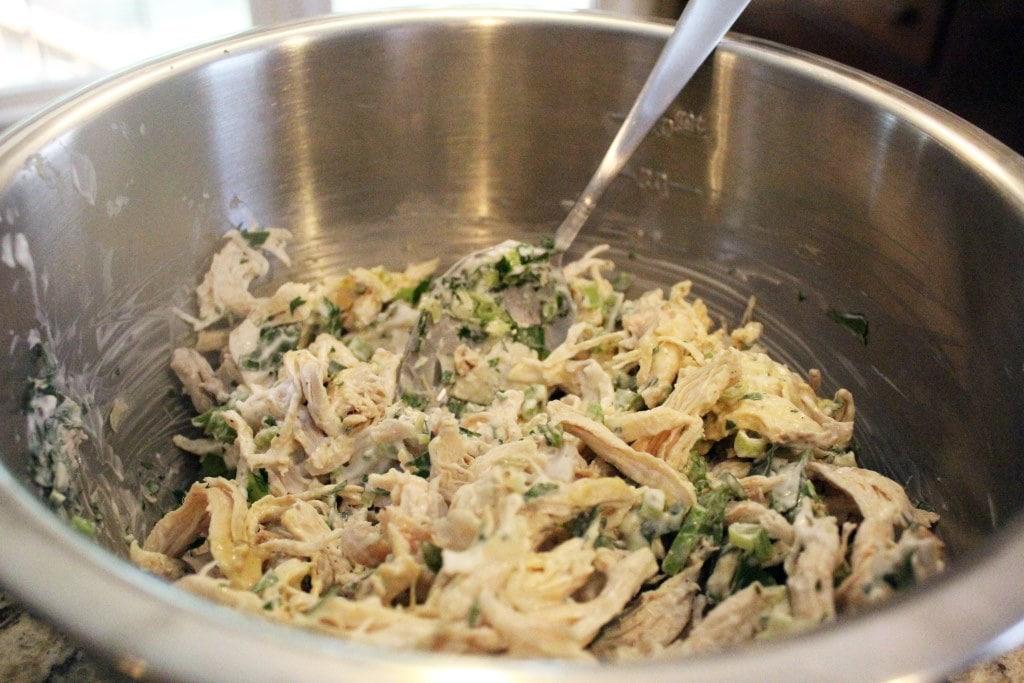 Stir salad together and taste