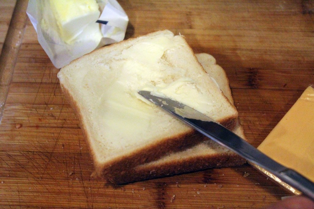 Butter the bread
