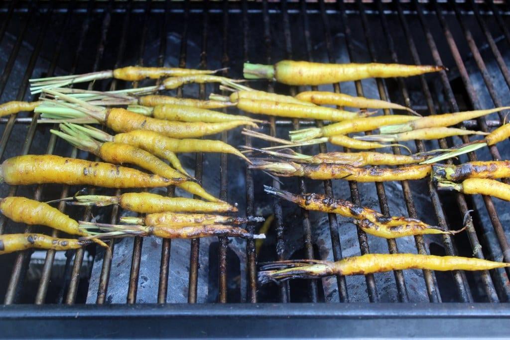 Flip carrots until cooked