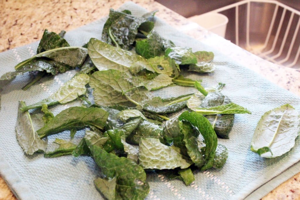 Let kale dry