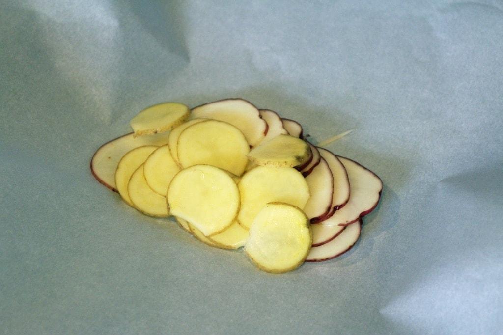 Mound of potatoes
