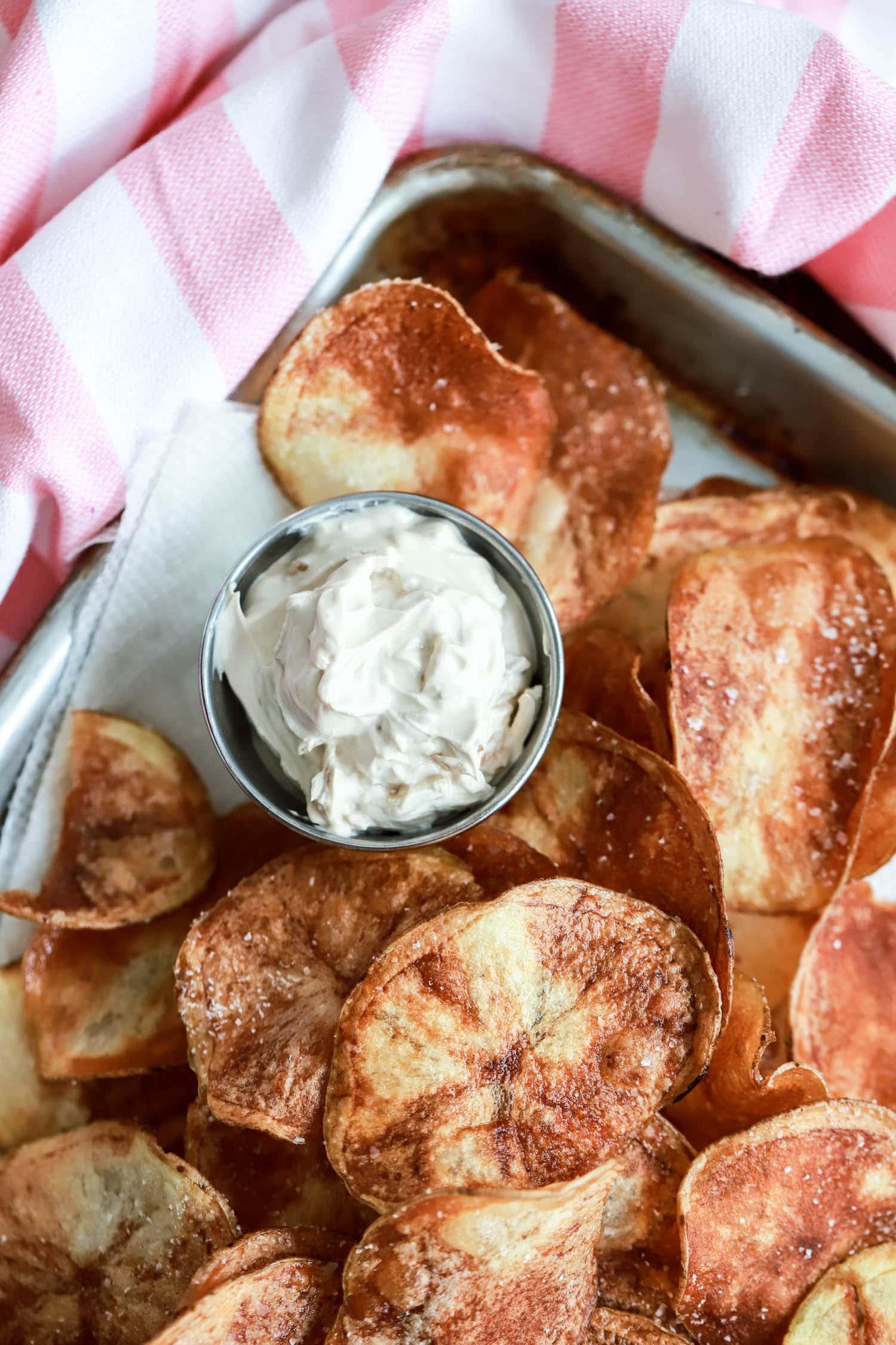 pan fried potato chips
