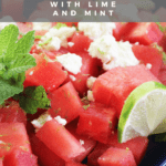 Watermelon with Feta and Mint recipe by funnyloveblog.com