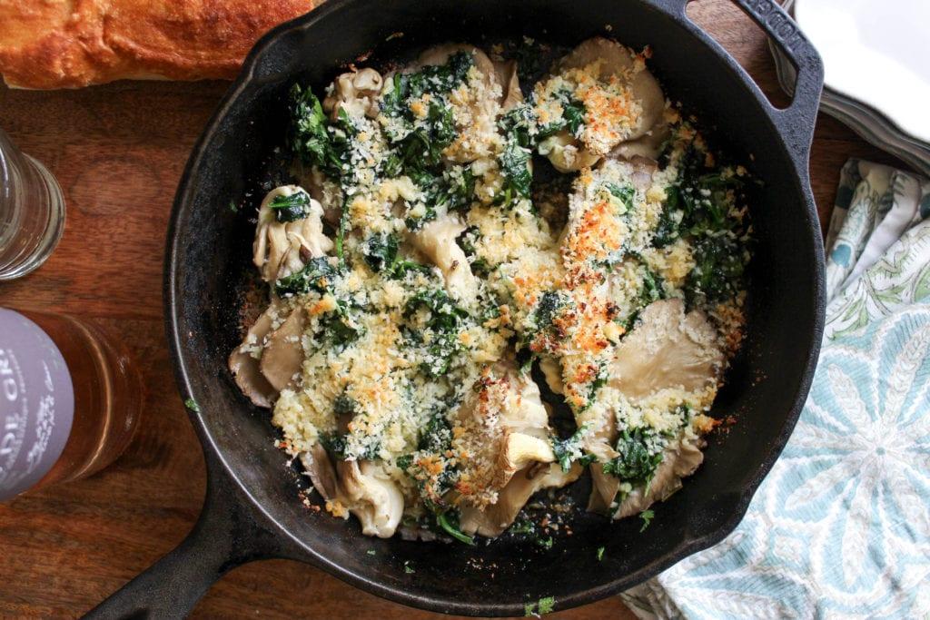 Oyster Mushrooms Rockefeller Recipe from funnyloveblog.com