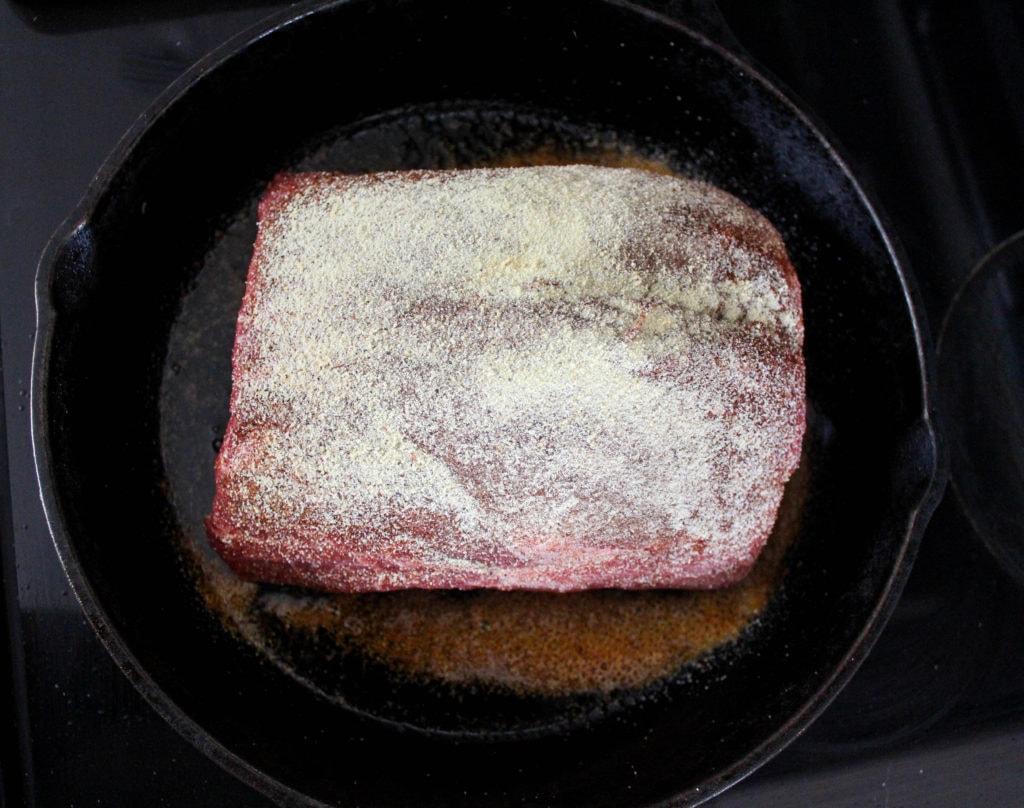 beef with seasoned salt pot roast