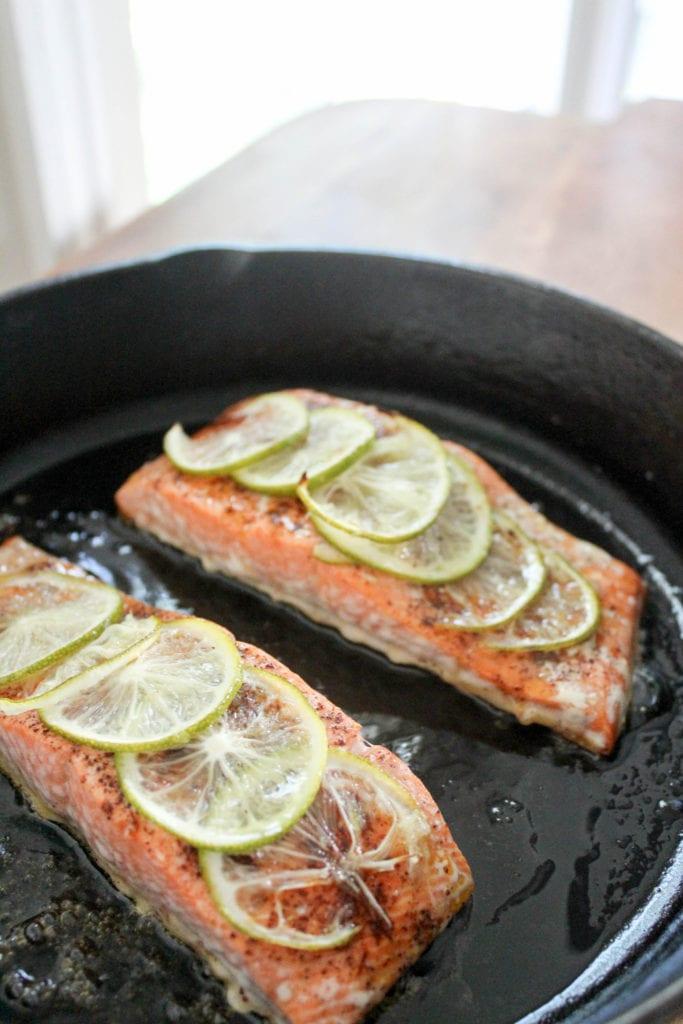 cast iron skillet salmon