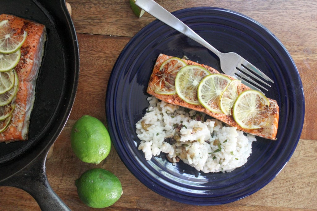 chili lime salmon with honey