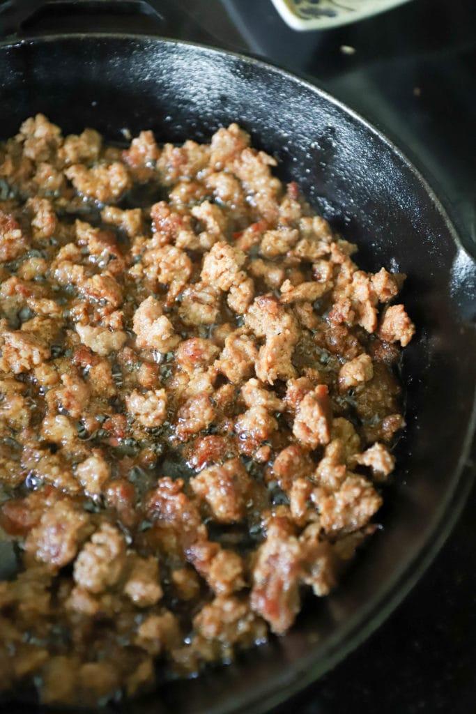 Quick Sausage Gumbo with Blackened Shrimp