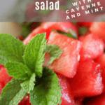 Salted Watermelon Salad Recipe from funnyloveblog.com