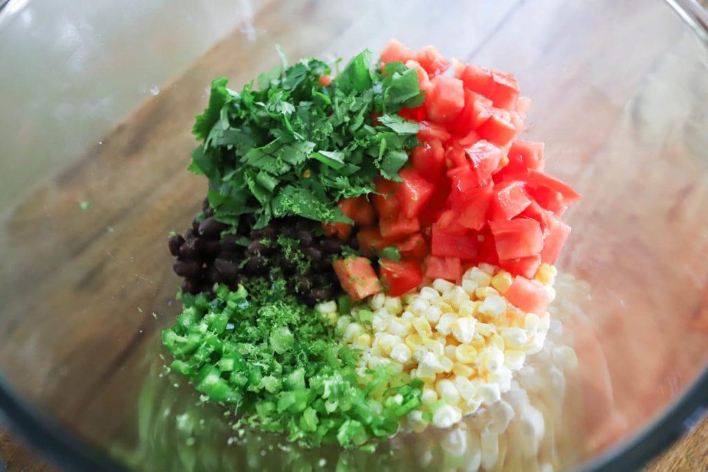 ingredients for black bean salsa
