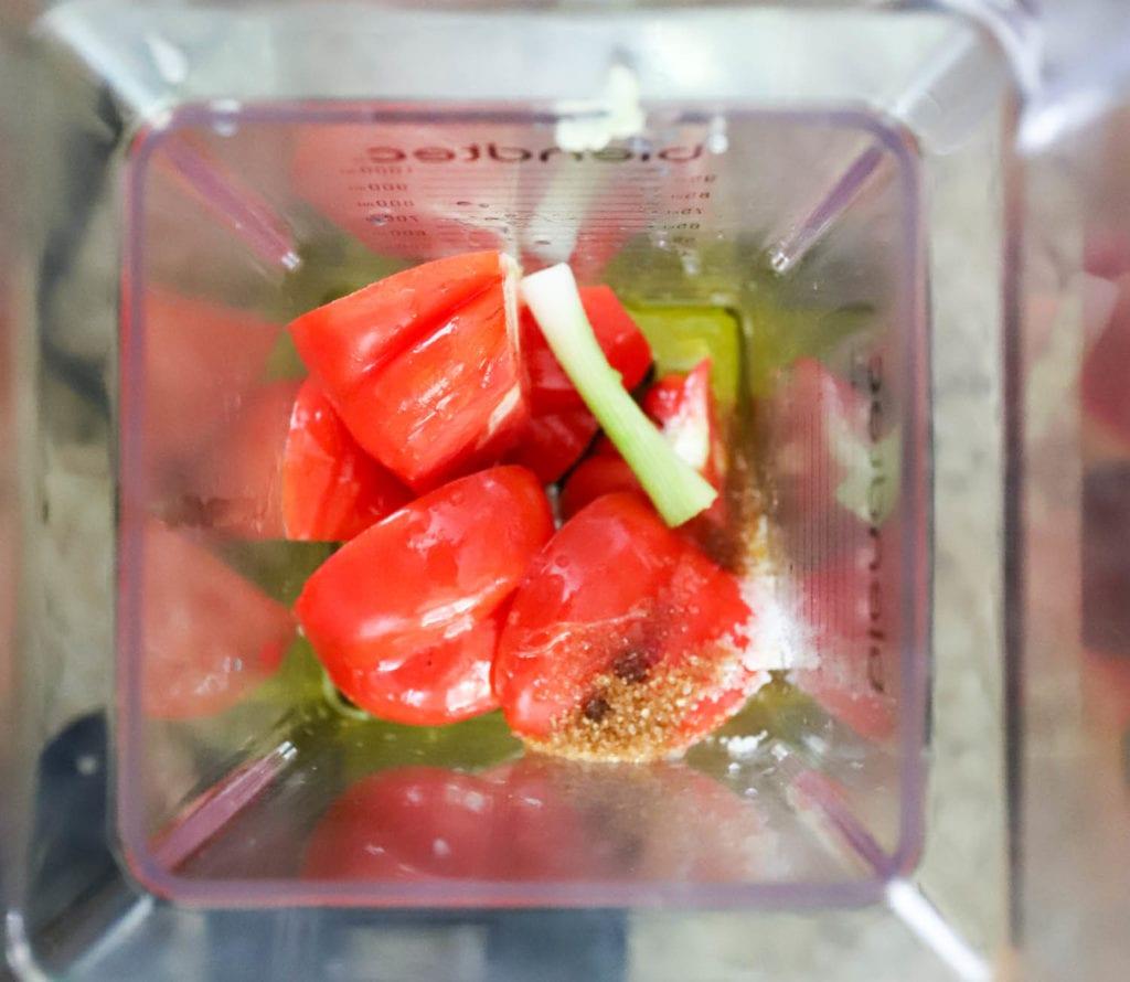 tomato vinaigrette blender