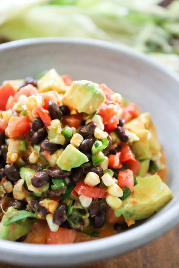 black bean salsa with corn