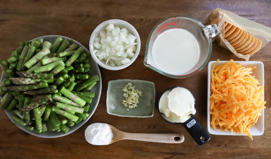ingredients for easy asparagus casserole