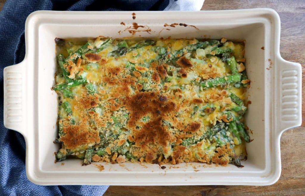 finished asparagus casserole