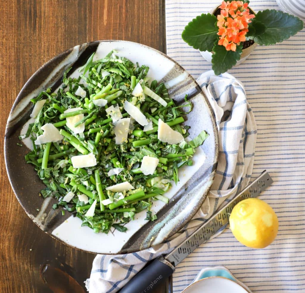 platter of spring salad
