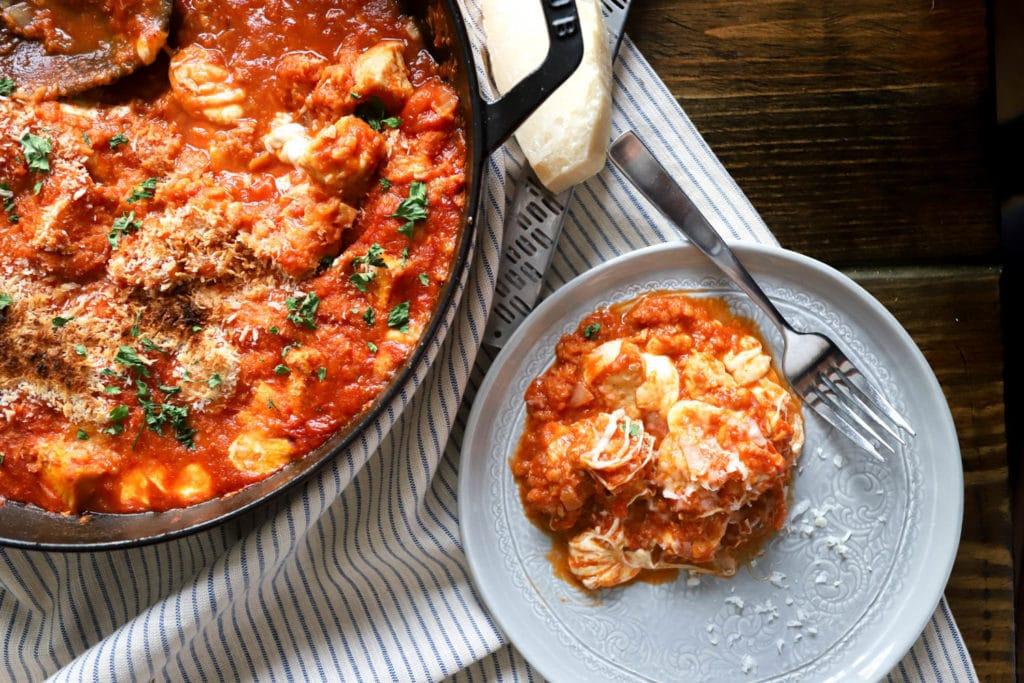 easy chicken parmesan skillet recipe