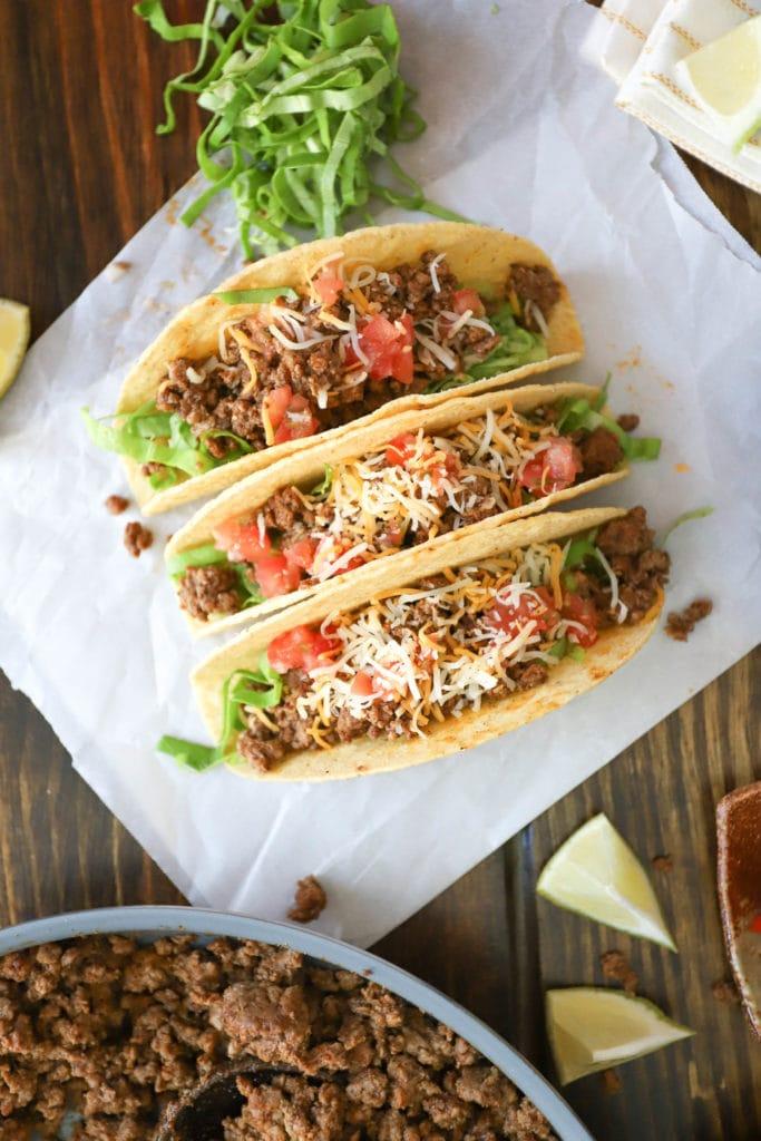 hard shall beef tacos