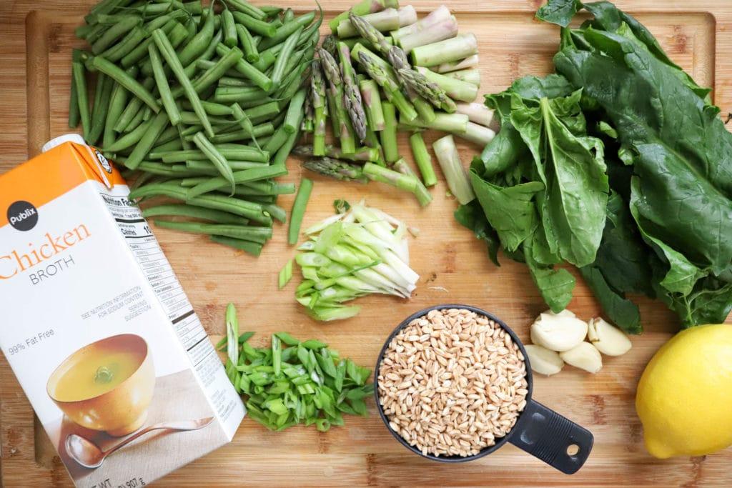green vegetable soup ingredients