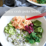 Spicy Crab Poke Bowls