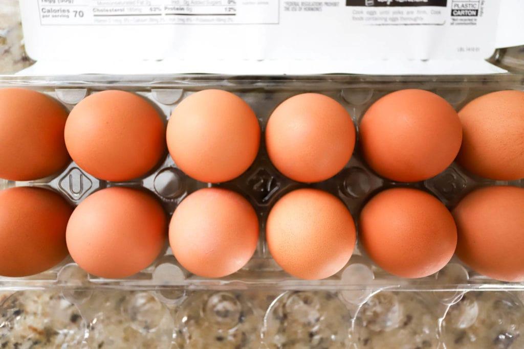 package of brown eggs