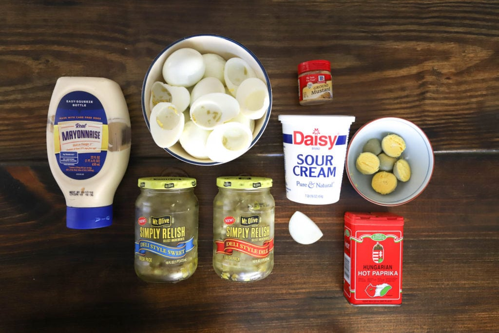 deviled eggs ingredients with relish